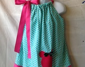 Cheerful Blue and Pink Dress - Size 4 - READY TO SHIP