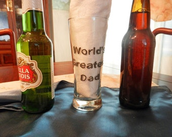 "Beer Glass ""World's Greatest Dad"""