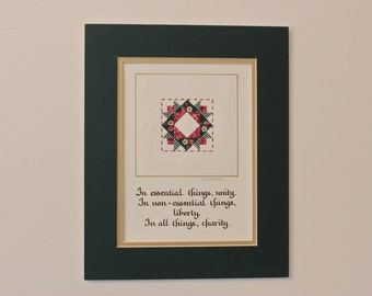 "8"" x 10"" matted PaperQuilt"