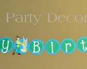 Peter Pan Birthday Banner 7 characters