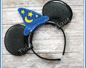 Sorcerer Mouse Ears Headband by Twincess Bowtique - CUSTOM
