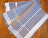 Set of 3 Assorted Color Fine Cotton Mens Handkerchiefs, Style No. 2028 with Monogram Style No. 2