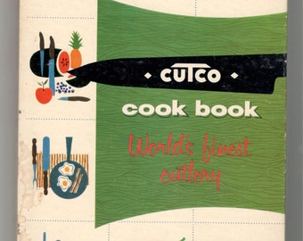 SALE- Vintage Cutco Cookbook, 1956, Collectible Recipe Book, Cutlery Book, Very Good Condition! Vintage Kitchen, Cook, Gift for the Cook