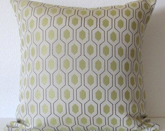 Pillow Sale - Thom Filicia Euclid Citron geometric designer throw pillow cover
