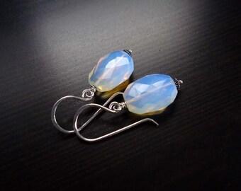 Opalite Earrings, Dangle Earrings, Drop Earrings, Sterling Silver