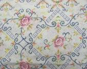 Cotton Cross Stitch Floral Print Style Fabric Yardage 2 Yards