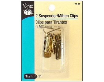 Dritz Suspender and Mitten Clips Gilt