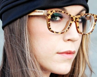 Brown Leopard Takemoto  Handmade Bamboo  Sunglasses Glasses With Wood Box Mjx1055
