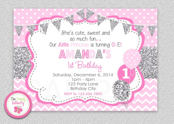 1St Birthday Invitation Design with nice invitations design