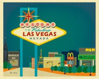 Las Vegas Skyline Art Print, Las Vegas wedding gift, Las Vegas Decor, Las Vegas Bachelorette Bachelor Art Gift Art - style  E8-O-LAV