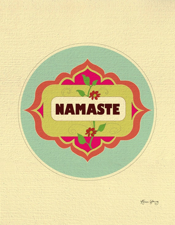 Namaste Print, Yoga Art, Yoga Wall Art, Yoga Design, Yoga illustration Art Gift , Loose Petals Art Print- top selling art - style E8-O-CRL1