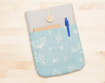 Kindle Paperwhite case / kindle case / kindle fire HD 6 case / kindle voyage case / / kindle 4 case / kobo glo case - blue floral -