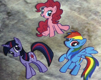 My Little Pony iron on applique Set of Three