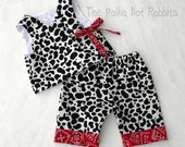 Baby Infant Coming Home Cowboy Kimono with Pant, Cow Print and Bandana, sizes 0 through 24 month