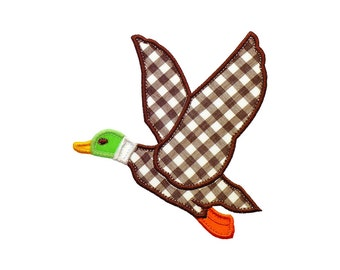 "Flying Duck Applique Machine Embroidery Designs Pattern in 3 sizes 5"", 6"" and 7"" NOT AVAILABLE for 4x4 HOOP."