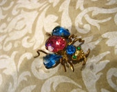 Antique Czech BUG Fly Insect Pin / Brooch