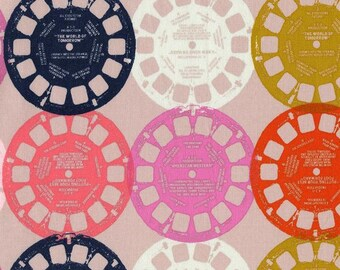 Viewfinders in pink from the Playful collection 1/2 yard fabric by Melody Miller cotton and steel