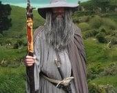 Gandalf the Grey Wizard Cloak, LOTR, The Hobbit, Reenactment LARP Cosplay Costume Replica Made to Order