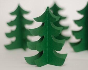 Set of 6 Christmas Tree Decorations - Large Size