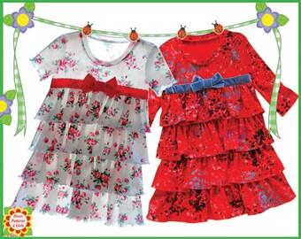Sugar & Spice Knit Ruffle Dress Childrens Patterns + Free Mother-Daughter Apron Pattern, Girl , Toddler Pattern, DressPatterns4Girls