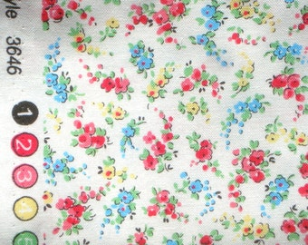 Sweet Shoppe Michelle D'Amore tiny floral white Benartex fabric FQ or more