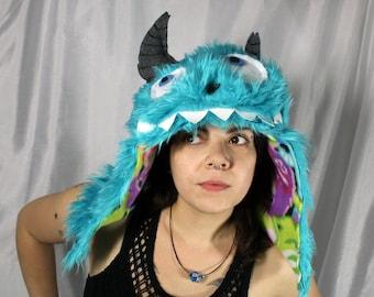 Monsters Inc Hat Sully Inspired // Sully monsters inc hat // monster spirit hood