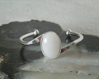 Moonstone Cuff Bracelet, wiccan jewelry pagan jewelry wicca jewelry goddess jewelry witch witchcraft metaphysical magic wiccan bracelet