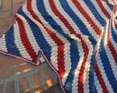 Corner to corner lap blanket.