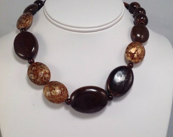 Chocolate Brown Beaded Necklace