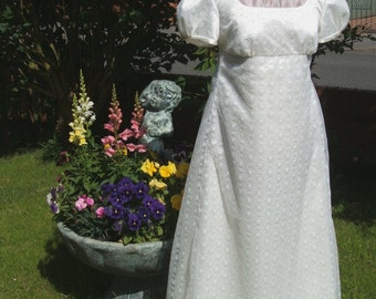 Stunning Regency Evening Gown Dress Jane Austen Inspired