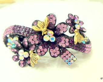 PS, SALE, Busy Bee Crystal Barrette