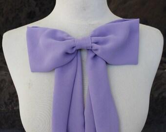 Cute   lavender chiffon bow applique