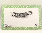 Clear Bead Snag-Less Stitch Markers - Set of 10