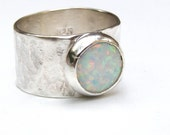 Opal ring,Cocktail White Opal ring ,Silver ring ,Gemstone ring, Birthstone opal stone, October stone, Birthday gift, gift for her