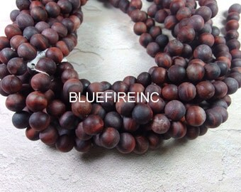 38 pcs Red Tiger Eye Beads in matte Finished Round Smooth Full Strand 10mm