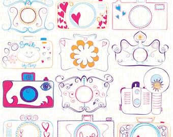 "CAMERAS Clipart: ""Doodle Cameras Clip Art"" Doodle Clipart Doodles Clip Art Camera Clip Art Cameras Clip Art Photography Clip Art 1076ff"