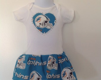 Miami Dolphins Inspired Infant Dress