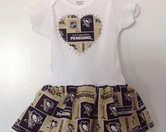 Pittsburgh Penguins Inspired Infant Dress