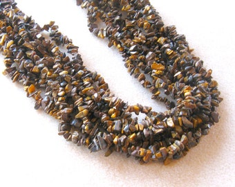 Tiger Eye Chip Beads, Endless Loop, Gemstone Beads, Craft Supplies, Jewelry Supplies, Beads for Jewelry Making, Chip Beads, Tigereye (1)