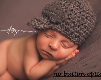 Newborn Hat, Baby Boy Hat, Newsboy Hat, Crochet Hat, Infant Hat, Baby Hat, Photo Prop, Photography Props, Coming Home Outfit, Baby Gift