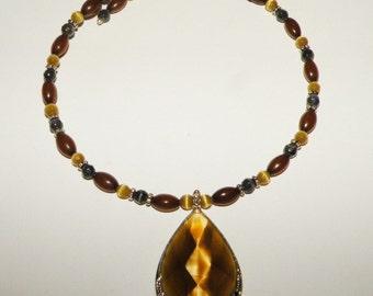 Monet Signed Choker Beaded Necklace