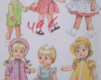 dolls clothes 18 inch vintage pattern