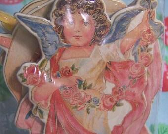 1988 merrimack die cut angel ornaments