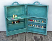 Vintage Home-made Wooden Sewing - Craft Cabinet