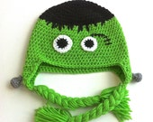 Frankenstein Halloween Hat -Adult Size Medium - Ready To Ship