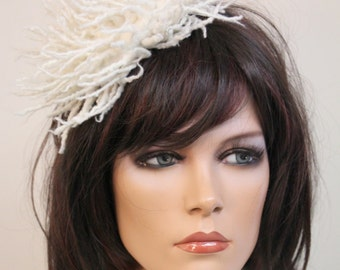 Wool unique head accessory for a bride
