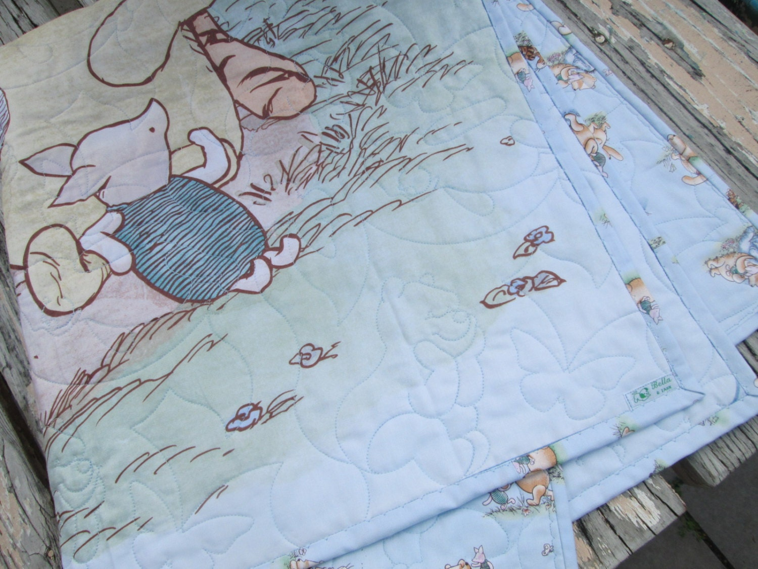 Baby Boy Quilt Classic Winnie The Pooh Crib Bedding