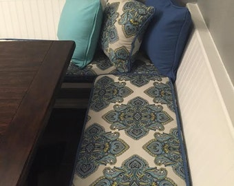Custom Breakfast nook, bench or Window Seat Cushion and Cover