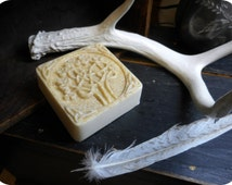 Flidais // Celtic Goddess of The Forest. Sweet Orange & Cherry Blossom Irish Knot Shaving Handmade Vegan Bath Soap. Handmade Artisan Organic