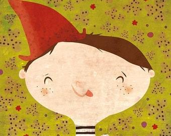 YUMMIE - art print // children illustration // happy green home decor